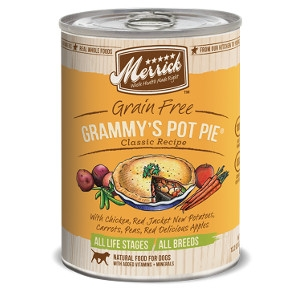 Merrick Grain Free Grammy's Pot Pie Classic Recipe for Dogs- 13.2oz