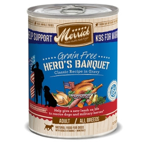 Merrick Grain Free Hero's Banquet Recipe in Gravy for Dogs- 12.7oz