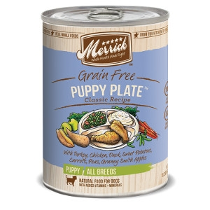 Merrick Grain Free Puppy Plate Classic Recipes- 13.2oz