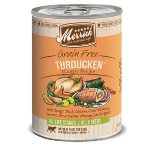 Merrick Grain Free Turducken Classic Recipes for Dogs- 13.2oz