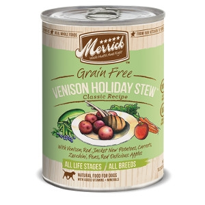 Merrick Grain Free Venison Holiday Stew Classic Recipes for Dogs- 13.2oz