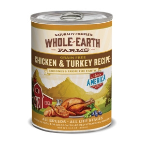 Whole Earth Farms Grain Free Chicken & Turkey Recipe for Dogs- 12.7oz