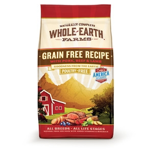 Whole Earth Farms Grain Free Recipe with Beef and Lamb for Dogs