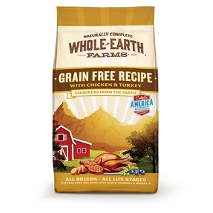Whole Earth Farms Grain Free Recipe with Chicken and Turkey for Dogs