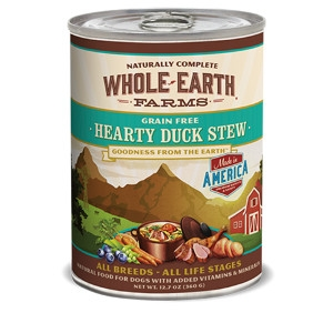 Whole Earth Farms Grain Free Hearty Duck Stew for Dogs-12.7oz