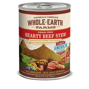 Whole Earth Farms Grain Free Recipe Hearty Beef Stew for Dogs- 12.7oz