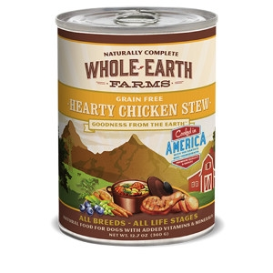 Whole Earth Farms Grain Free Recipe Hearty Chicken Stew or Dogs- 12.7oz