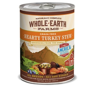 Whole Earth Farms Grain Free Recipe Hearty Turkey Stew for Dogs- 12.7oz