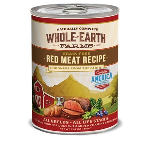 Whole Earth Farms Grain Free Recipe Red Meat for Dogs- 12.7oz