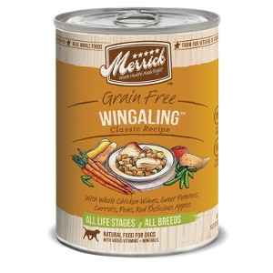 Merrick Grain Free Wingaling Classic Recipes for Dogs- 13.2oz