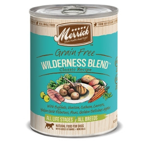 Merrick Grain Free Wilderness Blend Classic Recipe for Dogs- 13.2oz