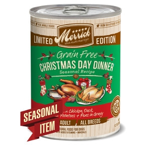 Merrick Christmas Day Dinner Seasonal Recipe in Gravy for Dogs- 12.7oz