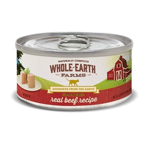 Whole Earth Farms Grain Free REcipe Beef Pate for Cats- 2.75oz