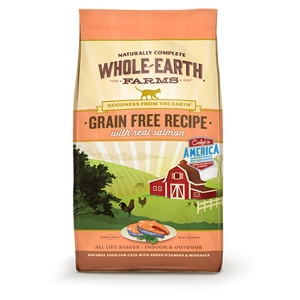 Whole Earth Farms Grain Free Recipe with Real Salmon for Cats- 10lbs