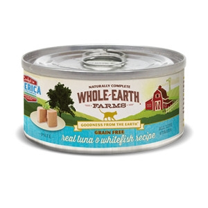 Whole Earth Farms Grain Free Real Tuna & Whitefish Pate Recipe for Cats- 2.75oz