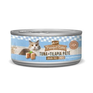 Merrick Purrfect Bistro Tuna & Tilapia Pate for Cats- 5.5oz