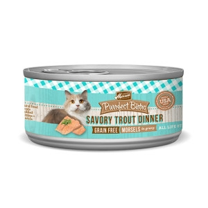 Merrick Purrfect Bistro Savory Trout Dinner Morsels in Gravy for Cats- 5.5oz