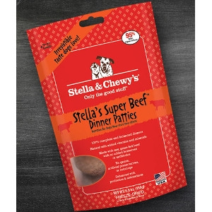 Stella's Super Beef Freeze-Dried Dinner Patties for Dogs- 15oz