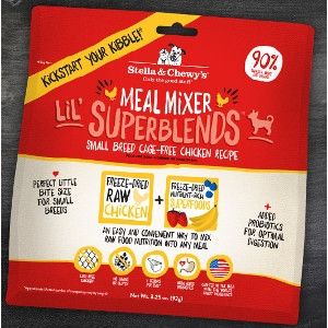 Small Breed Cage-Free Chicken Lil' Superblends Meal Mixers for Dogs- 3.25oz