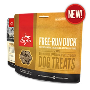 Orijen Freeze-Dried Free-Run Duck Treats for Dogs- 1.5oz