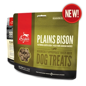 Orijen Freeze-Dried Plains Bison Treats for DOgs- 1.5oz