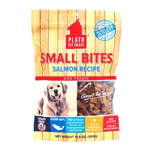 Plato® Salmon Small Bites Dog Treats