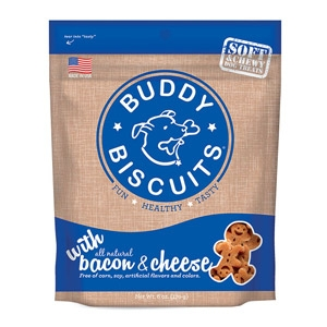 Earth Animal® Buddy Biscuits® Soft & Chewy Bacon & Dog Treats