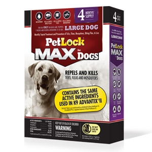 PetLock® Max Topical Flea & Tick Control for Large Dogs 21-55 lbs