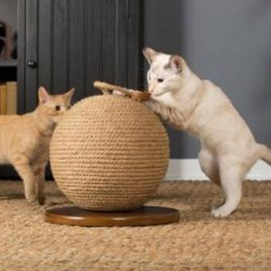 "Kitty Power Paws™ Sphere Scratching Post 13"" H"