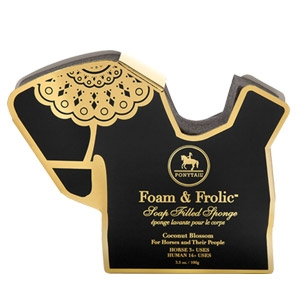 Ponytail™ Foam & Frolic Soap Infused Sponge for Horse & Rider