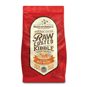 Grass-Fed Beef Recipe Raw Coated Kibble
