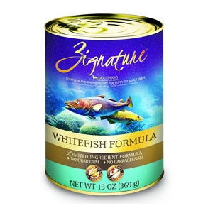 Zignature Whitefish Formula Canned Dog Food