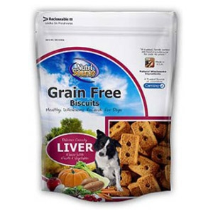 NutriSource Grain Free Liver Biscuits for Dogs