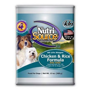 NutriSource® Chicken & Rice Formula Wet Dog Food