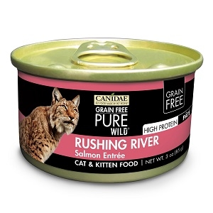 CANIDAE® Grain Free PURE WILD®: Rushing River Recipe Canned Cat Food, 3 oz.