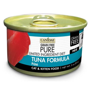 CANIDAE® Grain Free PURE® Limited Ingredient Diet: Tuna Recipe Canned Cat Food, 3 oz.