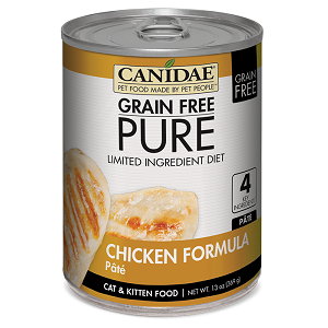 CANIDAE® Grain Free PURE® Limited Ingredient Diet: Chicken Recipe Canned Cat Food, 13 oz.