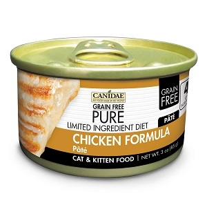 CANIDAE® Grain Free PURE® Limited Ingredient Diet: Chicken Recipe Canned Cat Food, 3 oz.