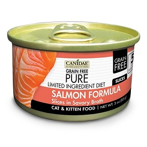 CANIDAE® Grain Free PURE® Limited Ingredient Diet: Salmon Recipe Canned Cat Food, 3 oz.