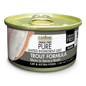 CANIDAE® Grain Free PURE® Limited Ingredient Diet: Trout Recipe Canned Cat Food, 3 oz.