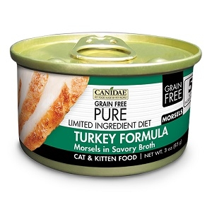 CANIDAE® Grain Free PURE® Limited Ingredient Diet: Turkey Recipe Canned Cat Food, 3 oz.