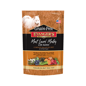 Evanger's Grain-Free Meat Lover's Medley with Rabbit Dry Dog Food, 4.4 lbs