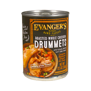 Evanger's Roasted Chicken Drummett Dog, 12/13.2 Oz