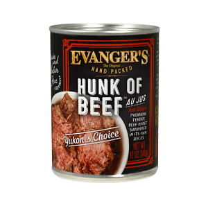 Evanger's Hand Packed Hunk of Beef Dog Food