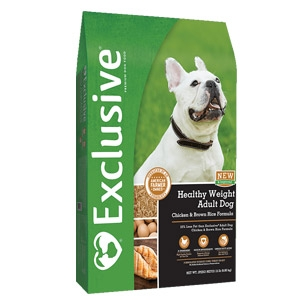 Exclusive® Healthy Weight Adult Dog Food