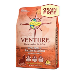 Earthborn Holistic® Venture™ Pork Meal & Butternut Squash Dog Food