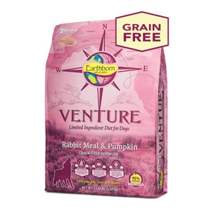Earthborn Holistic® Venture™ Rabbit Meal & Pumpkin Dog Food