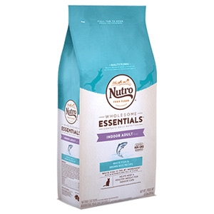 Nutro® Wholesome Essentials™ White Fish & Whole Brown Rice Recipe for Indoor Adult Cats 3lb