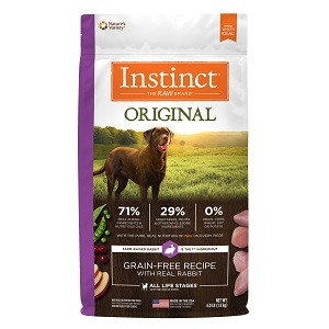 Nature's Variety Instinct Kibble Rabbit Dog 25.3 lb.