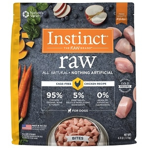 Nature's Variety Instinct Raw Frozen Bites - Organic Chicken Formula